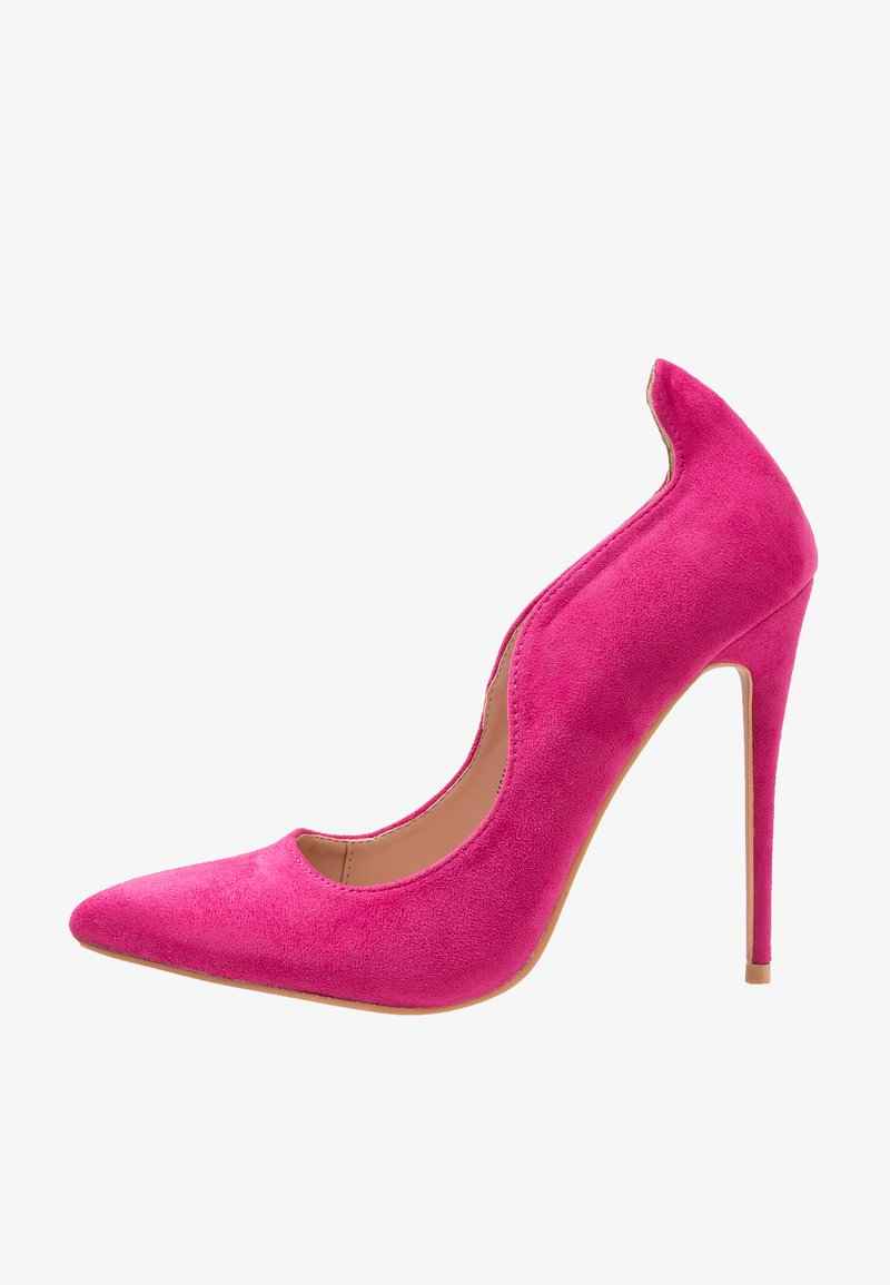 Lost Ink Wide Fit - WIDE FIT ABI CURVED TOPLINE COURT - High heels - fuchsia