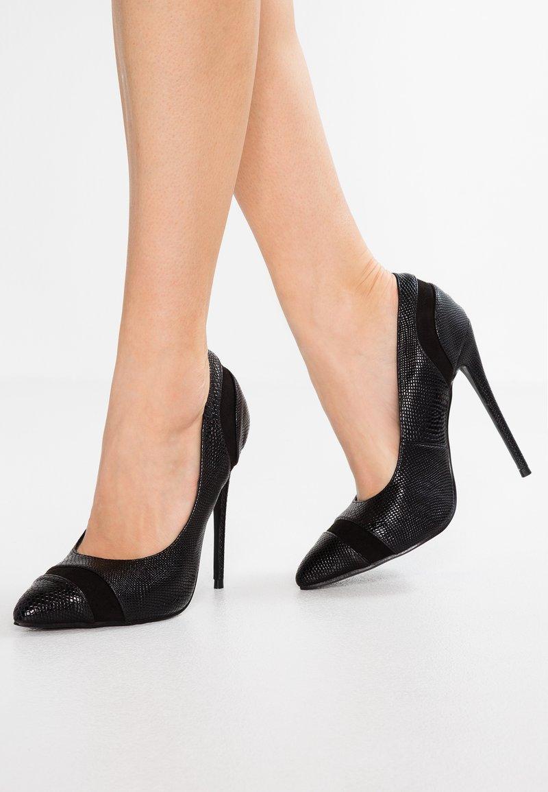 Lost Ink Wide Fit - WIDE FIT COURT - High heels - black