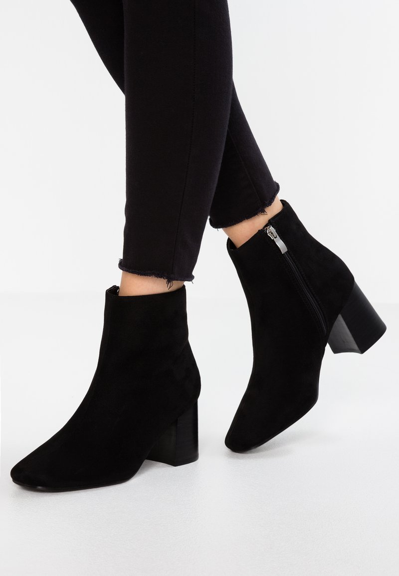 Lost Ink Wide Fit - WIDE FIT GRACE WITH SQUARE TOE - Classic ankle boots - black