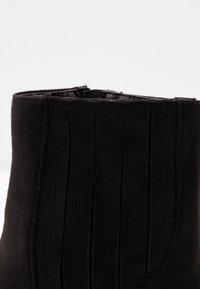 Lost Ink Wide Fit - WIDE FIT POINTED WESTERN BOOT - Kovbojské/motorkářské boty - black - 2