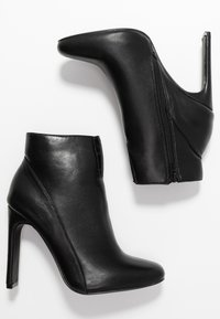 Lost Ink Wide Fit - WIDE FIT V FRONT STILETTO  - High heeled ankle boots - black - 3