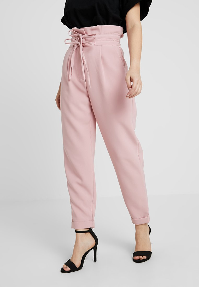 Lost Ink Petite - PEG TROUSER WITH DOUBLE DRAWCORD DETAIL - Trousers - light pink