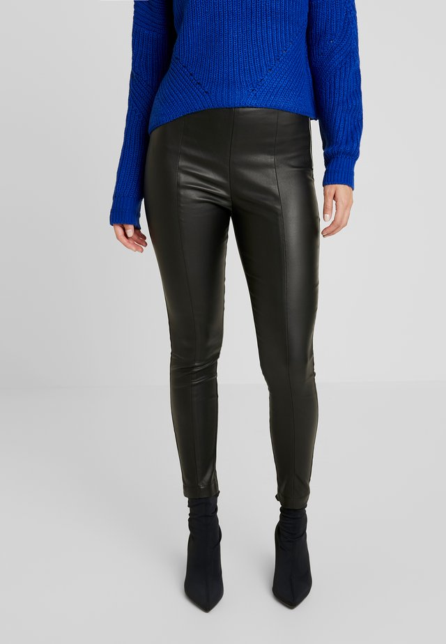 COATED TROUSER - Legging - black