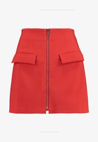 Lost Ink Petite - ZIP FRONT POCKET DETAIL SKIRT - Minihame - red - 3