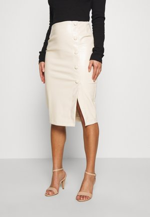 BUTTON FRONT MIDAXI SKIRT - Falda de tubo - cream