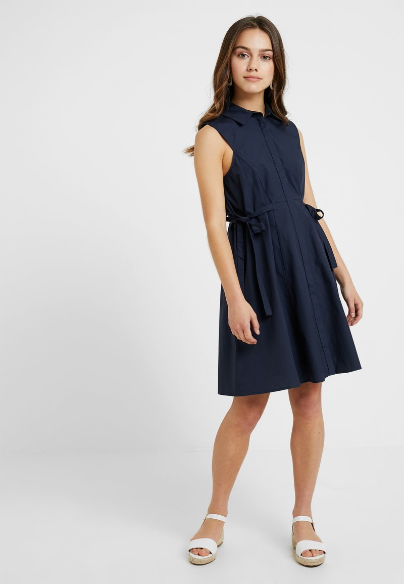 Lost Ink Petite - TIE SIDE DRESS - Blusenkleid - navy