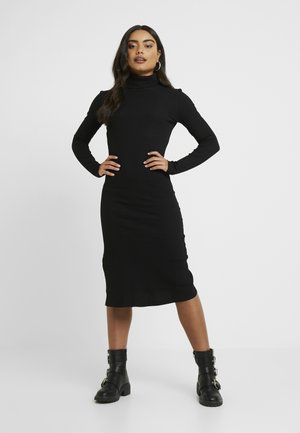 ROLL NECK MIDI DRESS - Fodralklänning - black