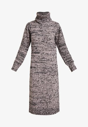 ROLL NECK DRESS - Gebreide jurk - pink