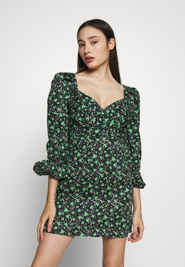 PLEATED MINI DRESS - Denní šaty - multi
