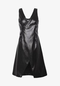 Lost Ink Petite - WRAP DRESS - Vestido informal - black - 5