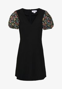 Lost Ink Petite - SLEEVE DETAIL MINI DRESS - Denní šaty - black - 5
