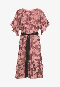 Lost Ink Petite - FRILL TEXTURED DRESS WITH BELT - Denní šaty - pink - 4