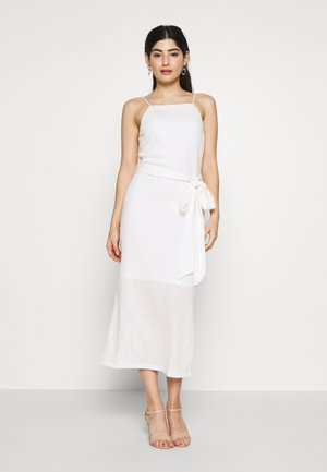 STRAPPY TIE WAIST DRESS - Vestito di maglina - cream