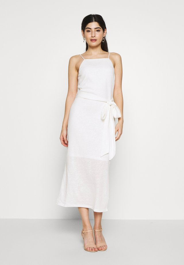STRAPPY TIE WAIST DRESS - Jerseyjurk - cream