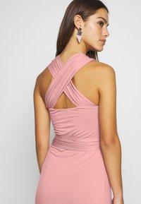 Lost Ink Petite - CROSS FRONT TIE WAIST DRESS - Žerzejové šaty - pink - 3