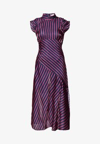 Lost Ink Petite - HIGH NECK STRIPE MIDAXI DRESS - Sukienka letnia - dark blue - 0