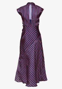 Lost Ink Petite - HIGH NECK STRIPE MIDAXI DRESS - Sukienka letnia - dark blue - 1