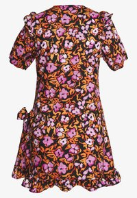 Lost Ink Petite - FLORAL PRINT SMOCK WRAP MINI DRESS - Vestido informal - multicoloured - 1