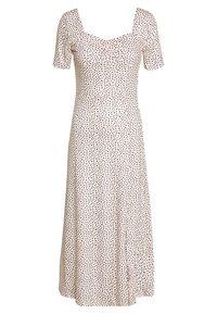 Lost Ink Petite - MONO PRINT FRONT SPLIT SHORT SLEEVE DRESS - Maxi šaty - white - 1