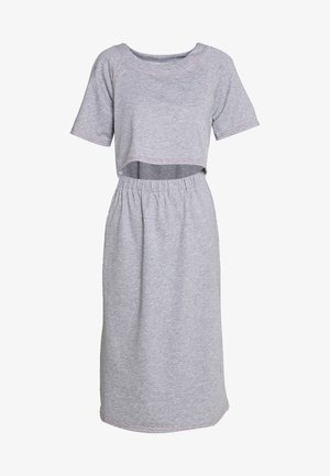 CONSTRAST STITCH MIDI DRESS - Vestito estivo - grey