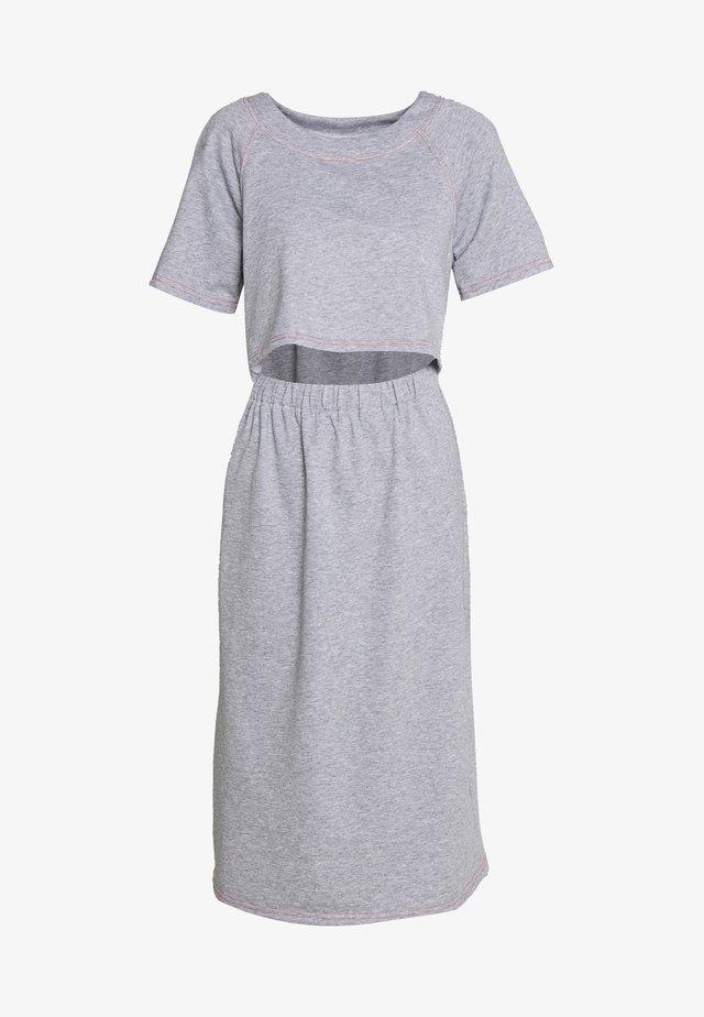 CONSTRAST STITCH MIDI DRESS - Vestido informal - grey