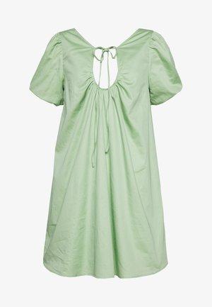 PLUNGE NECK VOLUME MINI  - Vestido informal - green