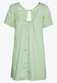Lost Ink Petite - PLUNGE NECK VOLUME MINI  - Vestido informal - green