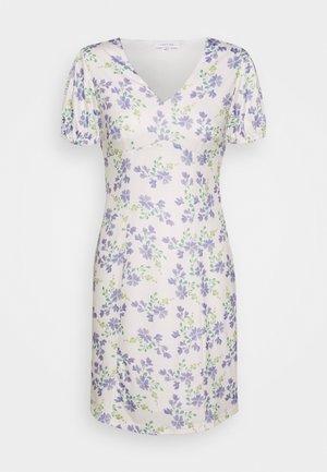 PRINTED V NECK MINI DRESS - Vestido informal - multi