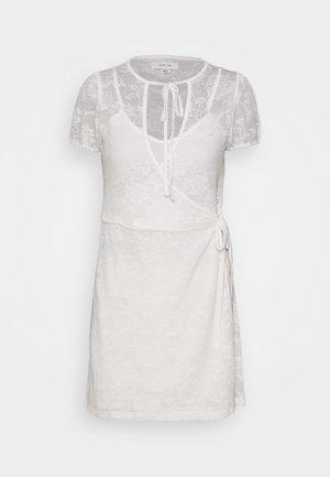 WRAP MINI DRESS - Korte jurk - white
