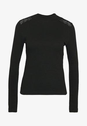 SHOULDER DETAIL - Long sleeved top - black