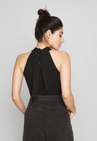 Lost Ink Petite - HALTER NECK WRAP DETAIL BODY - Top - black - 2