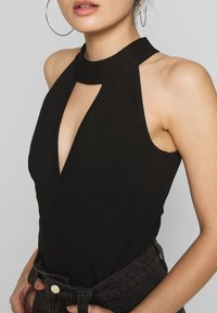 Lost Ink Petite - HALTER NECK WRAP DETAIL BODY - Top - black - 5
