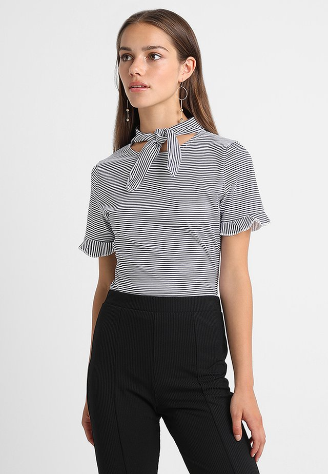 BODY WITH NECK TIE - T-Shirt print - blue