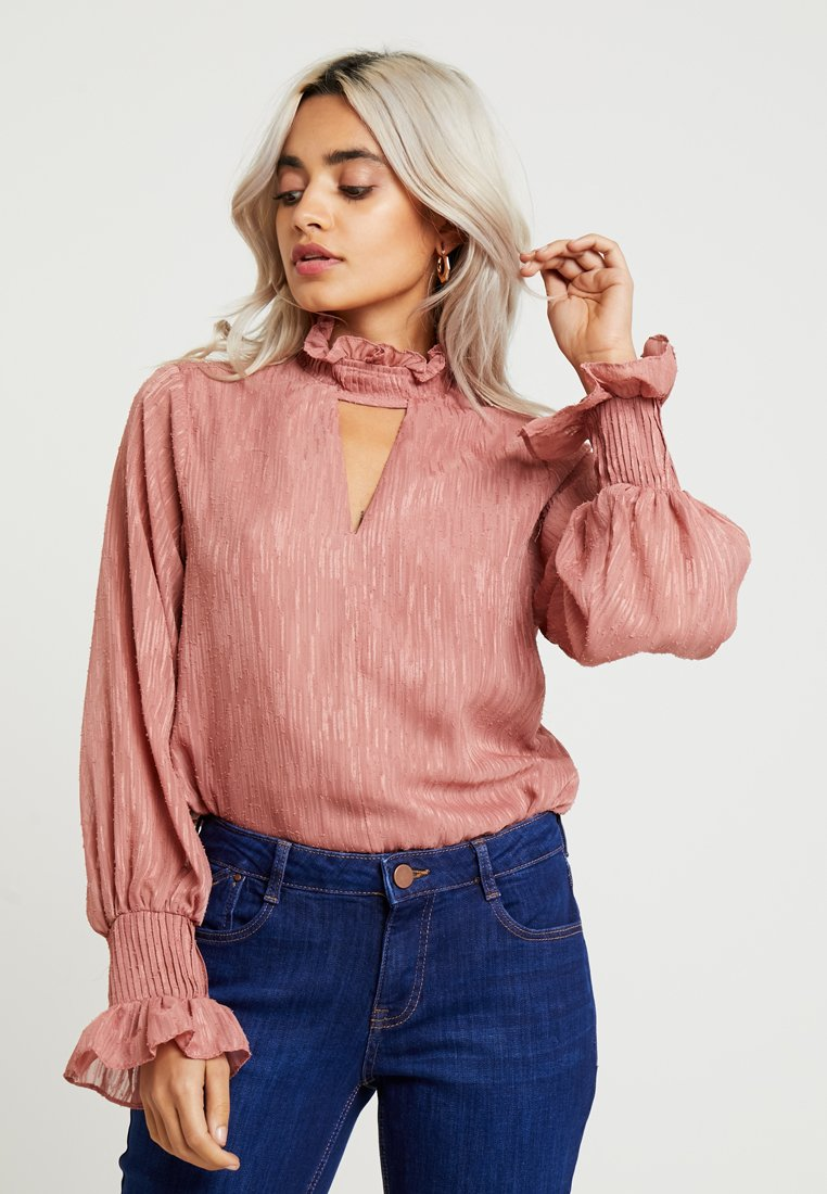 Lost Ink Petite - NECK BLOUSE - Blouse - blush