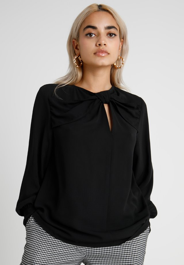 EXCLUSIVE BLOUSE WITH KNOT DETAIL - Blůza - black