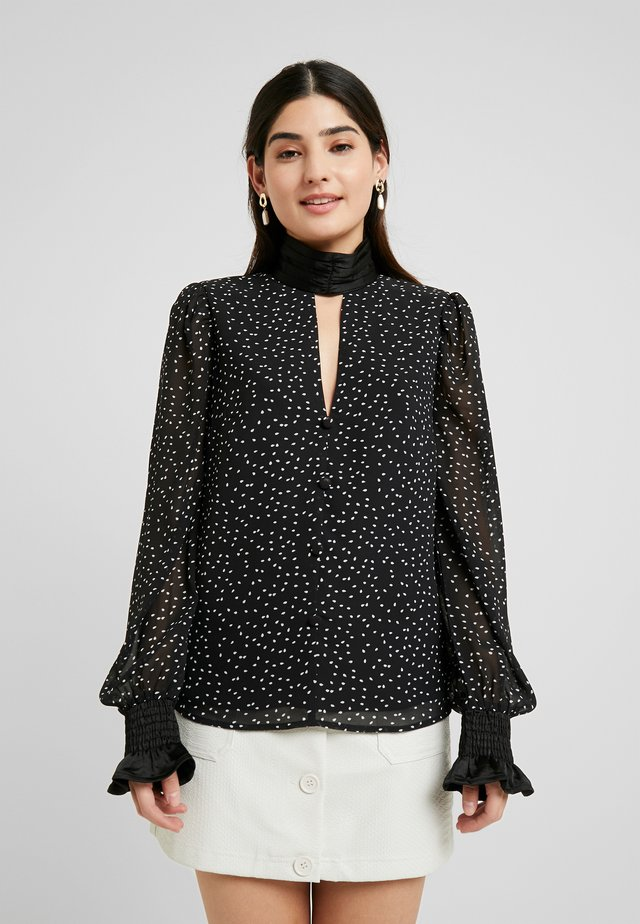 SPOT HIGH NECK BLOUSE - Bluse - black