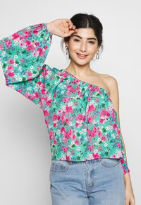 Lost Ink Petite - DRAWSTRING DETAIL ONE SLEEVE BLOUSE - Blusa - multi - 0