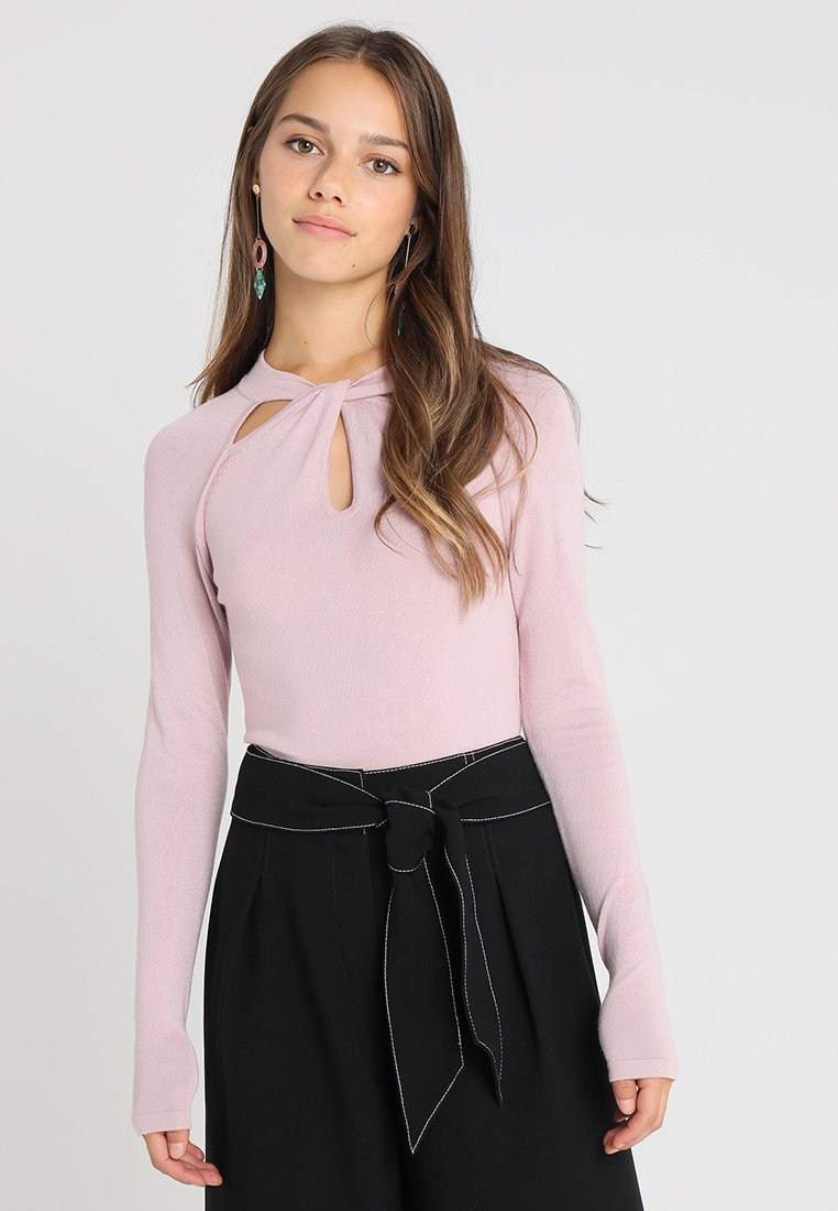Lost Ink Petite - TWIST MULTI CUT OUT JUMPER - Pullover - blush