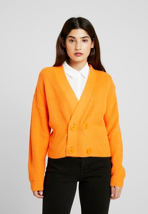 DOUBLE BREASTED CARDIGAN - Cardigan - orange