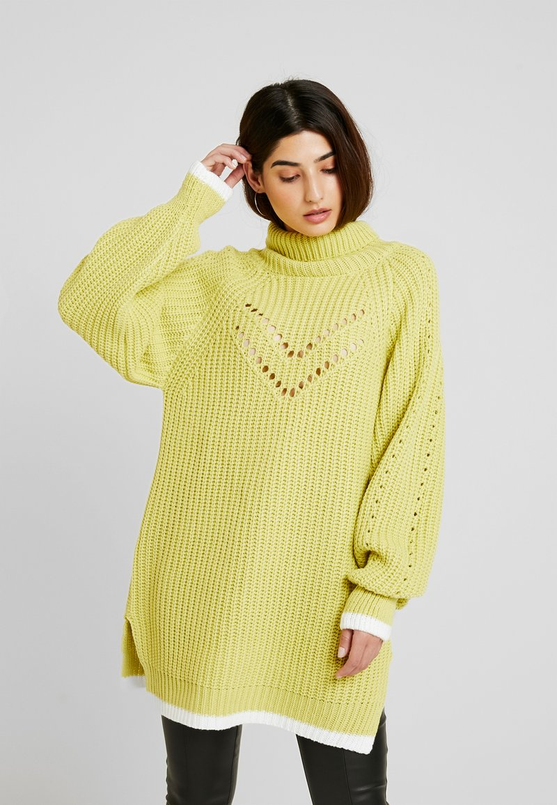 Lost Ink Petite - TIPPED JUMPER - Neule - lime