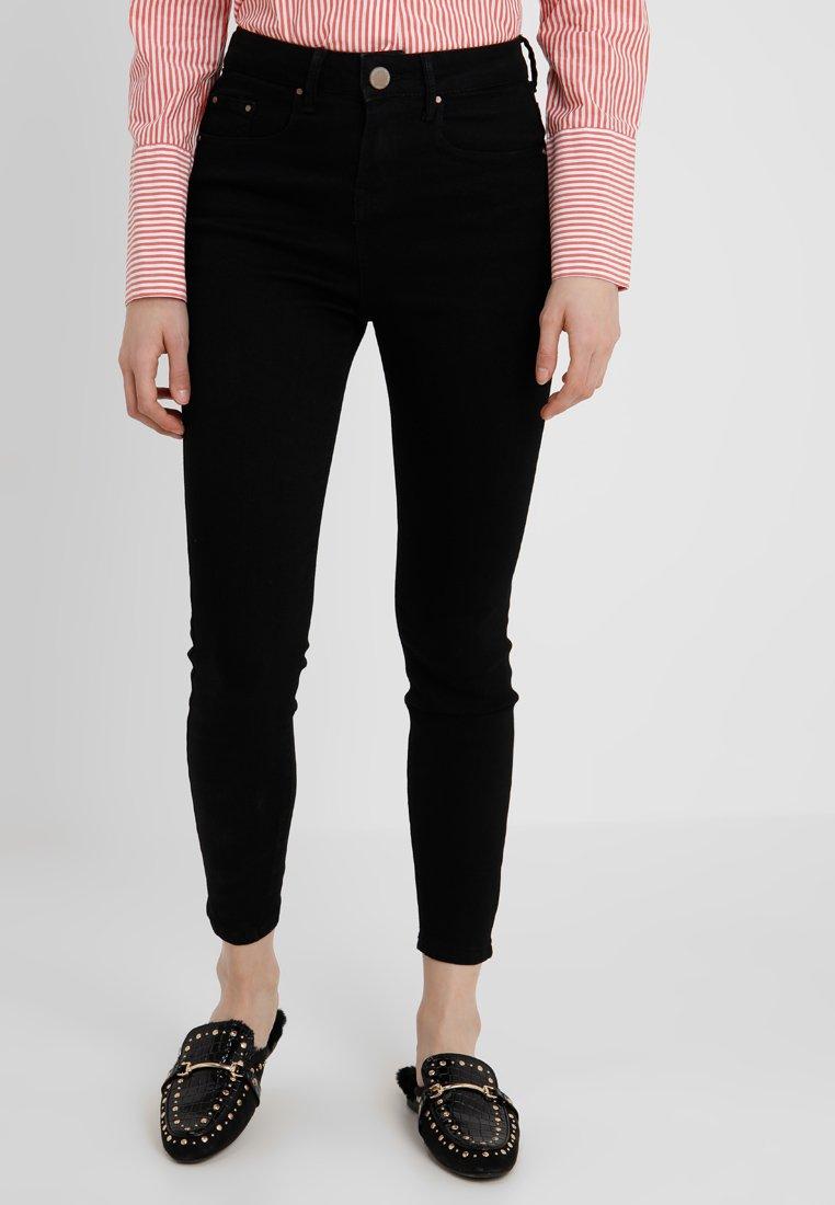 Lost Ink Petite - HIGH WAIST - Jeans Skinny Fit - black