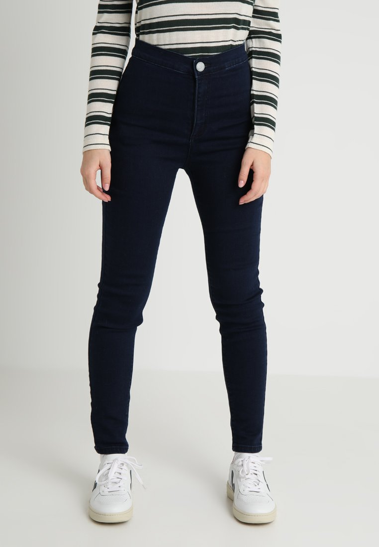 Lost Ink Petite - HIGH WAIST  - Jeans Skinny Fit - dark denim