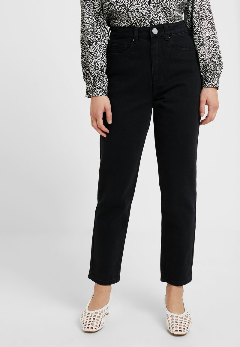 Lost Ink Petite - MOM  - Relaxed fit jeans - washed black