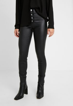 MID RISE BUTTON FRONT - Broek - black