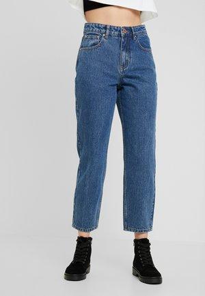 HIGH WAIST - Straight leg jeans - mid denim