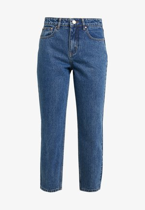 HIGH WAIST - Straight leg jeans - mid denim