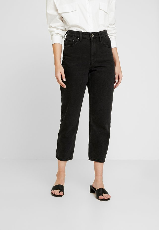HIGH WAIST DRACO - Jeans Straight Leg - washed black
