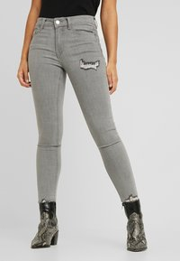 Lost Ink Petite - MID RISE RIP DOVE - Jeans Skinny Fit - grey - 0