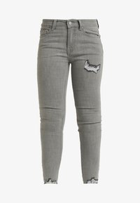 Lost Ink Petite - MID RISE RIP DOVE - Jeans Skinny Fit - grey - 4