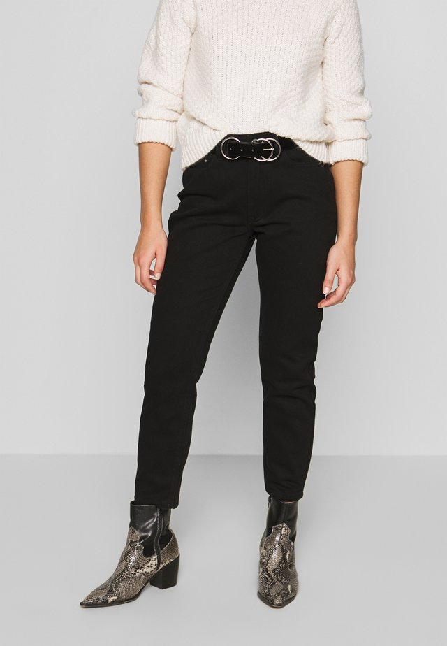 MOM ELDERBERRY - Jeans straight leg - coal